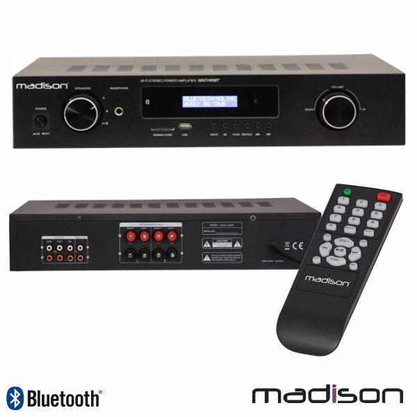 Amplificator Hi-Fi stereo Madison MAD1400BT-BK