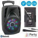 Boxa portabila  cu radio FM si Bluetooth Party Light & Sound Party 8LED, 300W