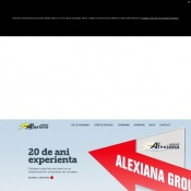 Website pentru firma SC Alexiana Group SRL