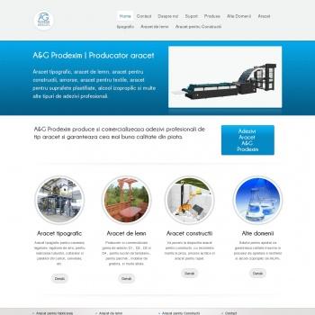 Website pentru firma A&G Prodexim