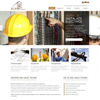 Website pentru firma Bia Haus Tehnik SRL