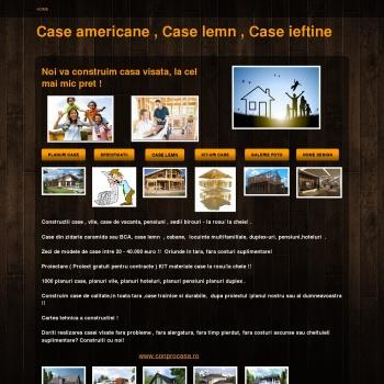Case americane. case lemn ieftine.Planuri case