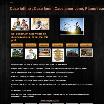 Case ieftine. Planuri case lemn. Case americane