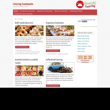 Website pentru firma Bon Gusto Catering