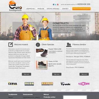 Website pentru firma Eurosiguranta
