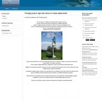 Website pentru firma EXOTIC-TOUR SRL