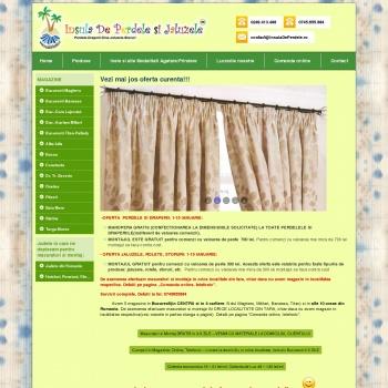Website pentru firma Insula de perdele