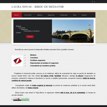 Website pentru firma Laura Novac - Birou de Mediator