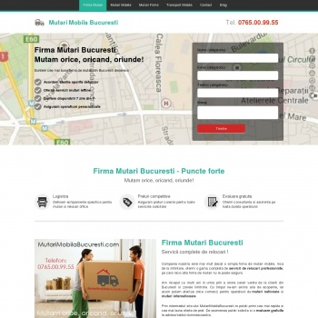 Website pentru firma Mutari Mobila