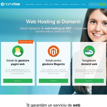 Gazduire website si Inregistrare domenii .ro