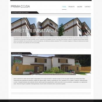Website pentru firma Prima Casa Ramnicu Valcea