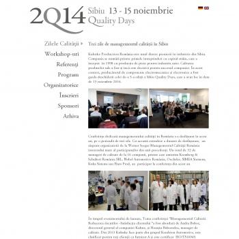 Sibiu Quality Days – Singura conferință privind Managementu