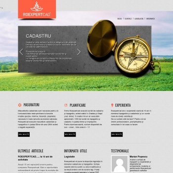 Website pentru firma Roexpertcad
