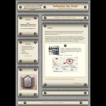 Website pentru firma S.C.Sebastian-FierForjat.S.R.L