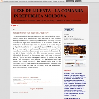 Teze de licenta la comanda in Moldova