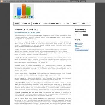 Website pentru firma SC INFOWATT SRL