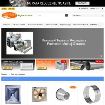 Website pentru firma SC. Ventsys Instal SRL