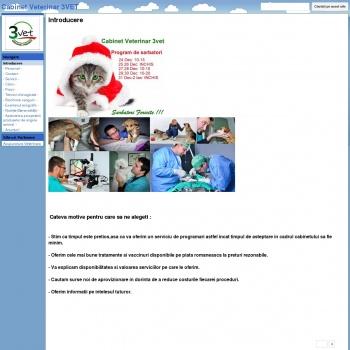Website pentru firma 3vet Original Project SRL