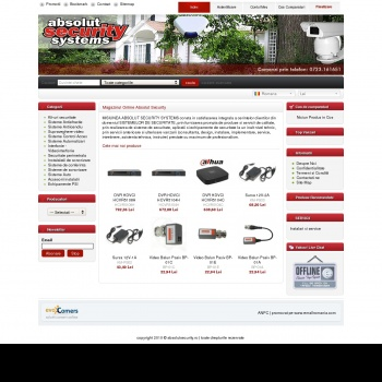 Website pentru firma Absolut Security Systems S.R.L.