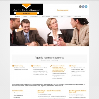 Website pentru firma ACTIV RECRUITMENT GRUP
