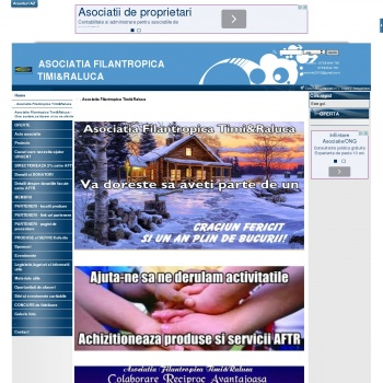 """Website pentru firma Asociatia Filantropica """"Timi&Raluca"""""""