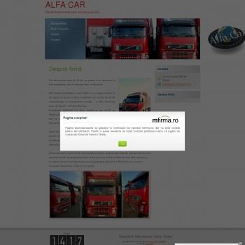 Website pentru firma ALFA CAR SRL