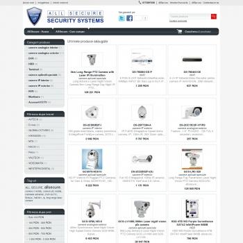 Website pentru firma ALL SECURE SRL