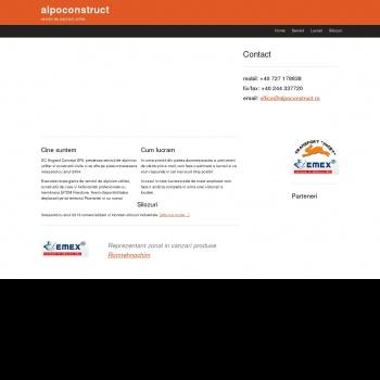 Website pentru firma SC DIVERS ALPO-CONSTRUCT SRL