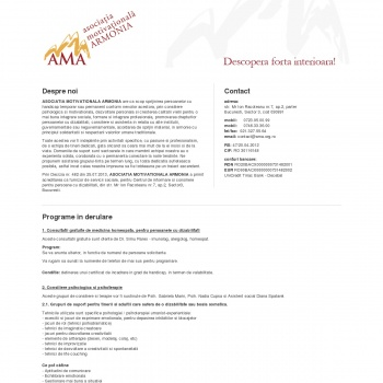 ASOCIATIA MOTIVATIONALA ARMONIA - ONG care sprijina persoanele c