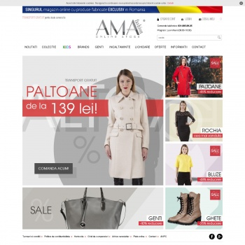 Website pentru firma AmaFashion Romania