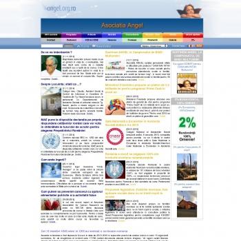 Website pentru firma Asociatia ANGEL