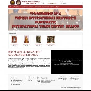 Website pentru firma SC SECUNDA 8 SRL