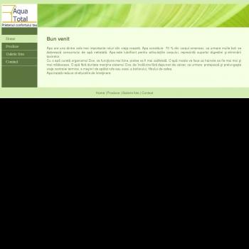Website pentru firma Aqua Total