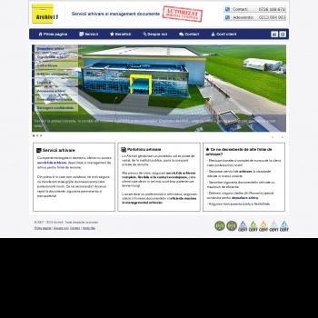 Website pentru firma Archivit SRL