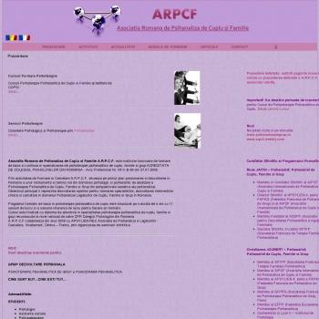 Website pentru firma A.R.P.C.F.-Asociatia Romana de Psihanaliza de Cuplu si Familie