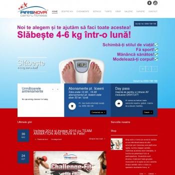 Website pentru firma ARS NOVA SRL