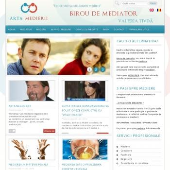 Website pentru firma Birou de Mediator VALERICA CIUPITU