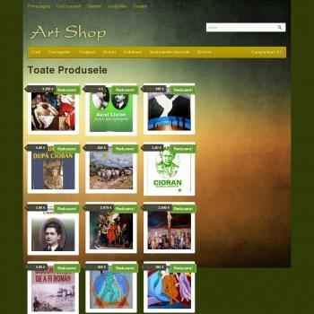 Shop de obiecte de arta din Tecuci
