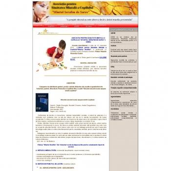 """Website pentru firma ASOCIATIA PENTRU SANATATE MINTALA A COPILULUI """"SFANTUL SERAFIM DE SAROV""""( ASMC)"""