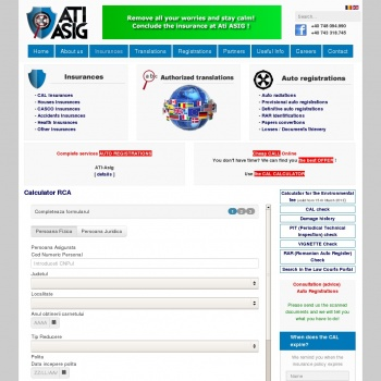 Website pentru firma ATI-ASIG