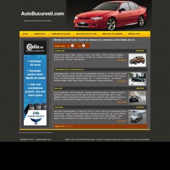 Website publicat de Auto Bucuresti