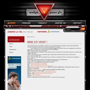 Website pentru firma sc autoparts srl