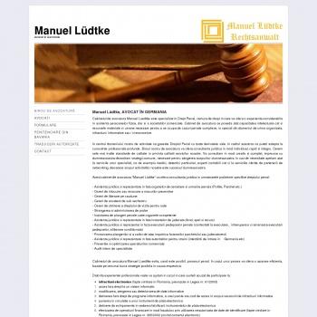 Website pentru firma Cabinet de avocatura Luedtke