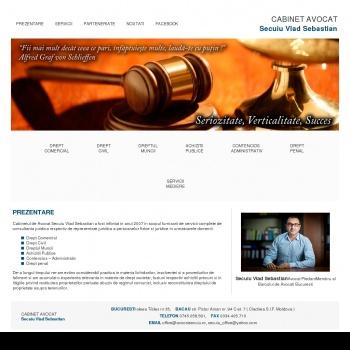 Website pentru firma Cabinet Avocat Secuiu Vlad Sebastian