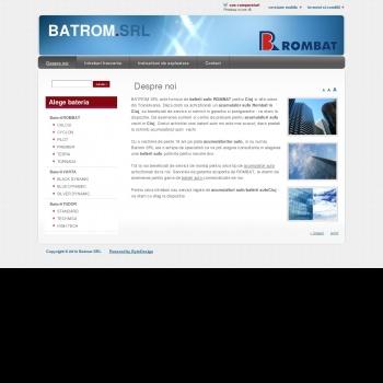 Website pentru firma BATROM PRODCOM IMPEX