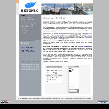 Website pentru firma BETONIX