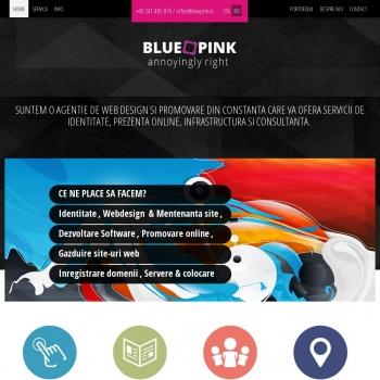 Website pentru firma SC.BLUEPINKSOFTWARE SRL