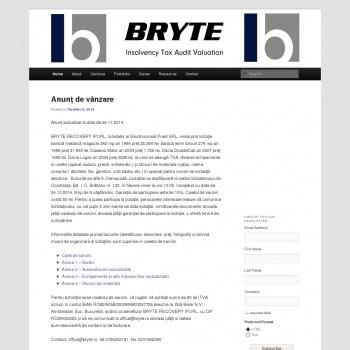 Website pentru firma Bryte Consulting