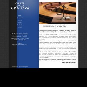 Website pentru firma CABINET AVOCAT BRATILOVEANU IZABELA
