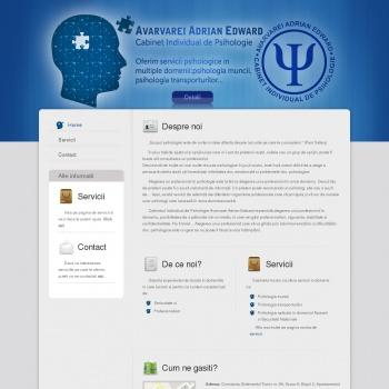 Website pentru firma CABINET INDIVIDUAL DE PSIHOLOGIE- AVARVAREI ADRIAN EDWARD